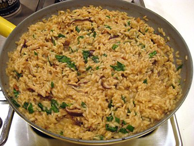 risotto-mushroom-cooking